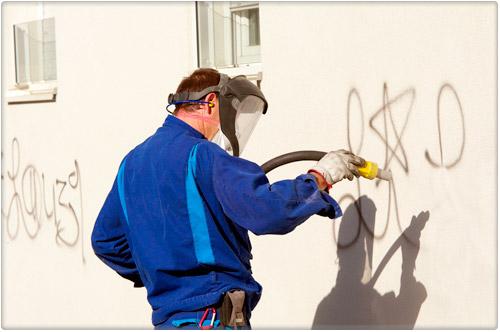 limpieza de graffitis y paredes con limpiezas dynamic en markina xemein